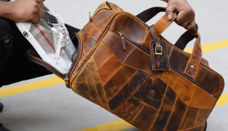 Relationship with Leather Duffle Bag